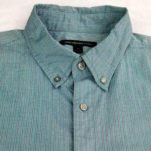 John Varvatos USA Striped Button Down XL Shirt